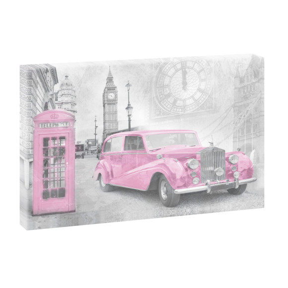 Leinwandbild Retro London | 100 cm x 65 cm in Farbig