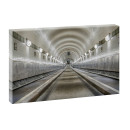 Leinwandbild Hamburg Alter Elbtunnel | 100 cm x 65 cm in...
