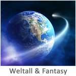 Weltall und Fantasy Motive als Kunstdruck auf Leinwand